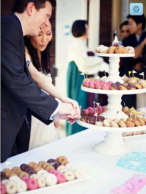 The Knot reception donut bar