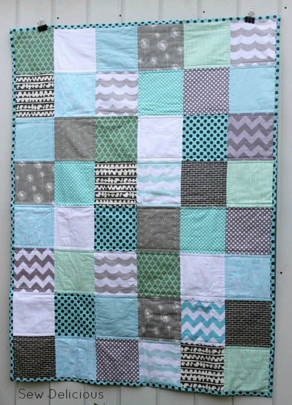 Charity Quilting Aqua And Grey Quilt Sew Delicious