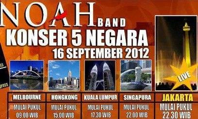 NOAH Konser di 5 Negara dalam 1 Hari