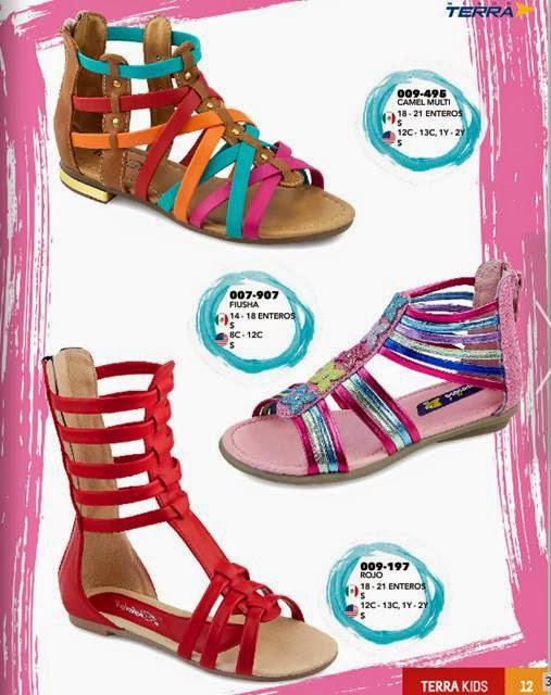 Sandalias estilo romano para niñas Terra PV15