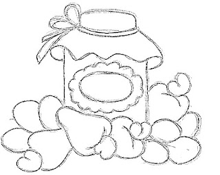 desenho pote de caju de pessegos para pintar