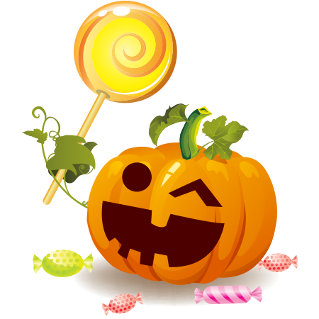 Lollypop Pumpkin Icon