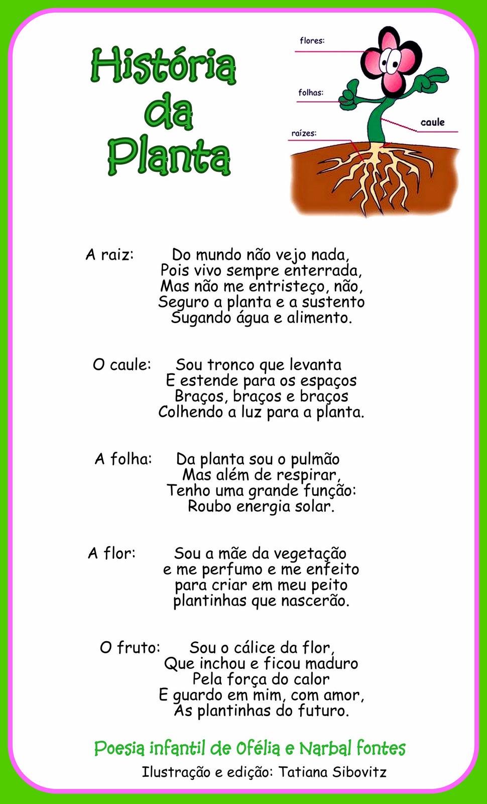 Encontrei Este Poema Lindo Que Fala Sobre As Partes Da Planta