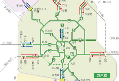 Shutoku Expressway map