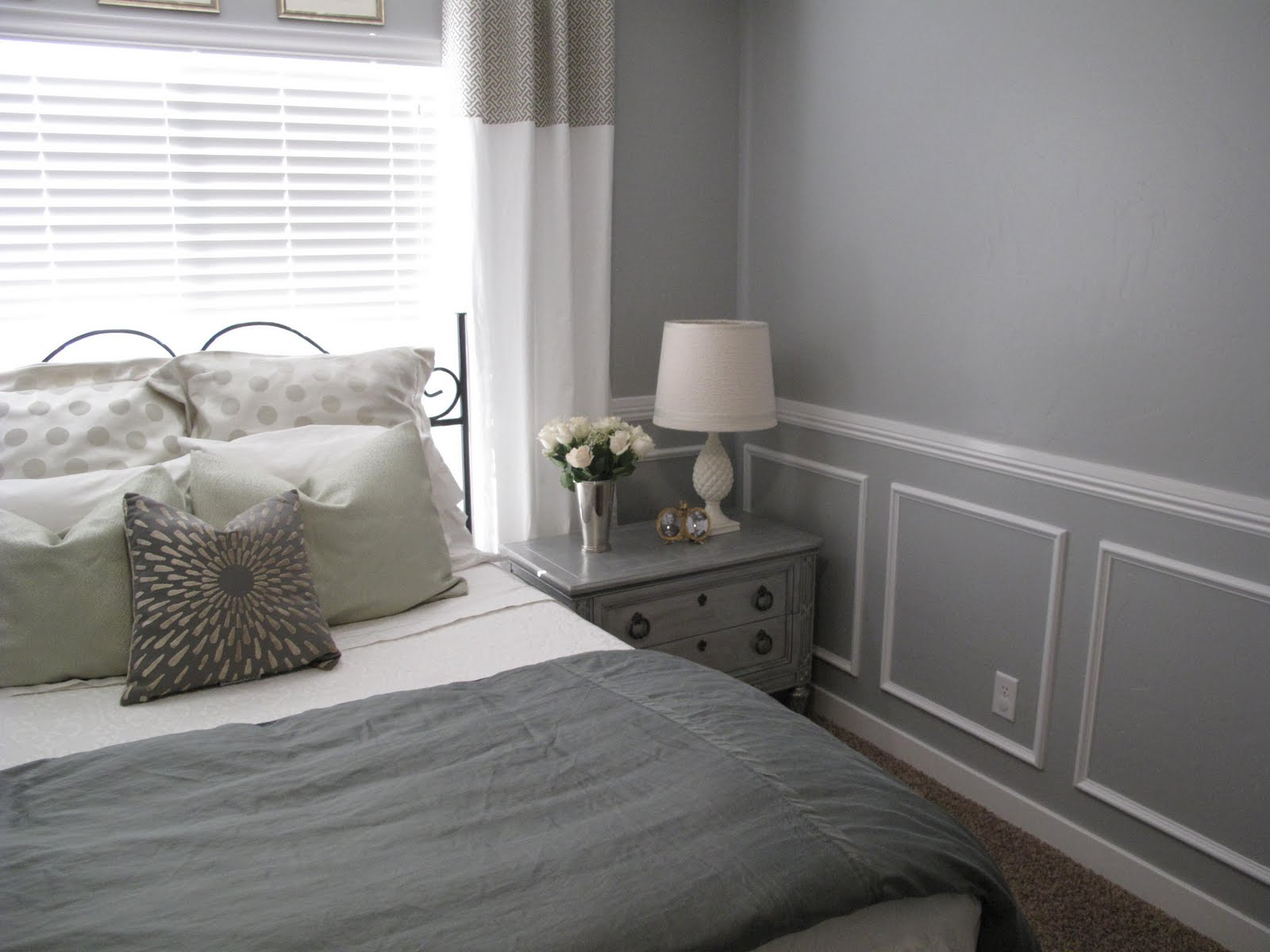 Little miss penny wenny master bedroom makeover reveal Master bedroom chair rail