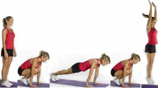 tonificar piernas con burpees