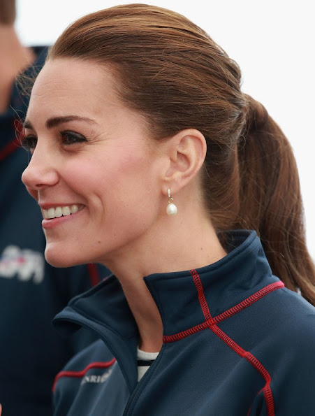Catherine, Duchess of Cambridge Royal Patron of the 1851 trust attend the America's Cup World Series