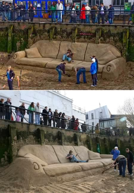 World's Largest Sand Couch-Magrush.com