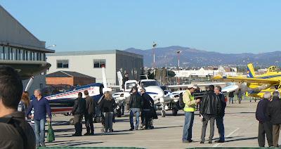 Avions exposats a la Plataforma R-1 a l'Aeroport de Sabadell en la Diada de la Patrona 2012.