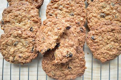 Hazelnut Raisin Oat Cookies