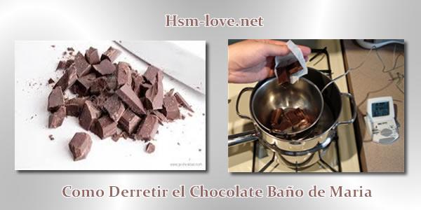 derretir el Chocolate exitosamente