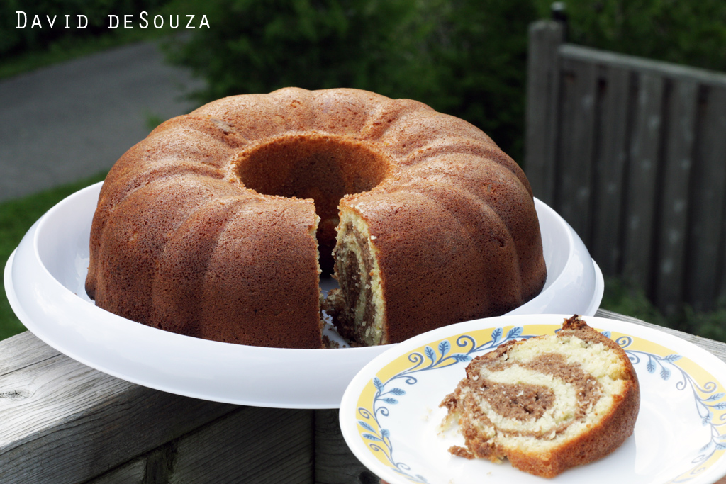 Marble cake with jamaican rum pecans and cocoa david for Jamaican chocolate rum cake recipe