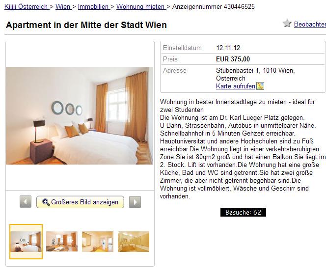stubenbastei 1 informationen ber wohnungsbetrug. Black Bedroom Furniture Sets. Home Design Ideas