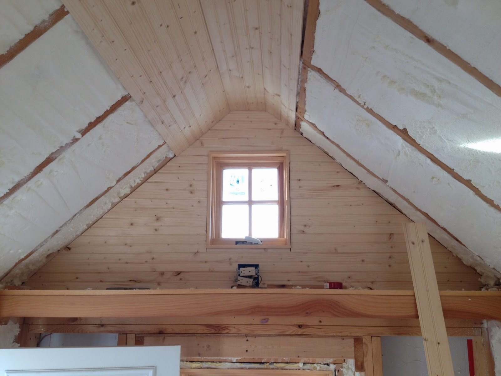 Building a tiny house a dream to reality for How to build a cathedral ceiling