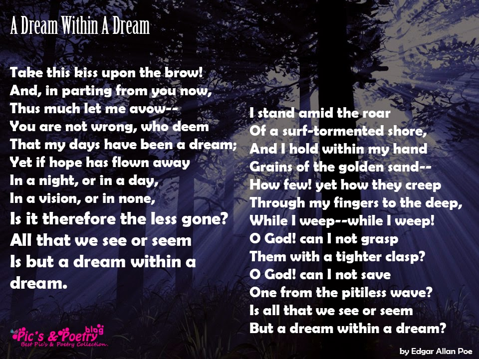 English Poem A Dream Within A Dream