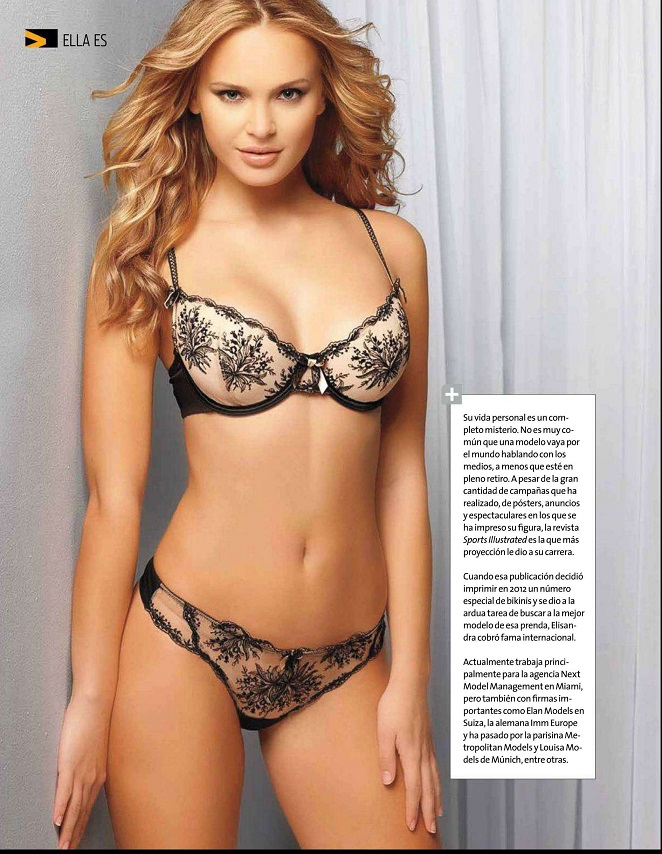 Elisandra Tomacheski shows off lingerie looks for Open Mexico, issue of April 2013