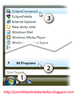 EclipseCrossword di Menu Start Windows anda