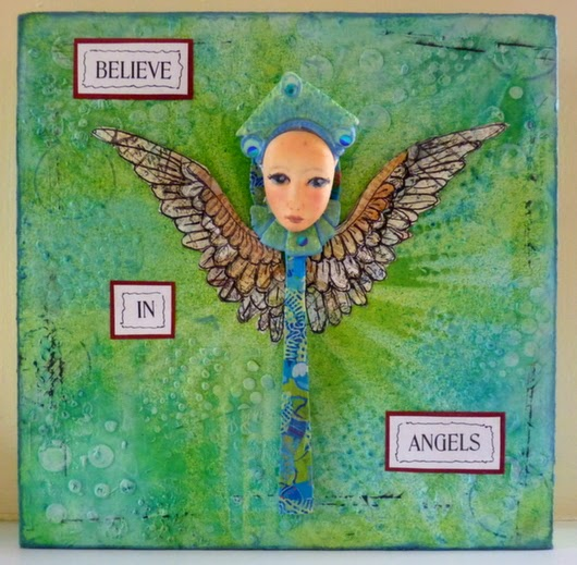 Whoopidooings: Carmen Wing - Mixed media spoon angel by Mistyrat on UKS