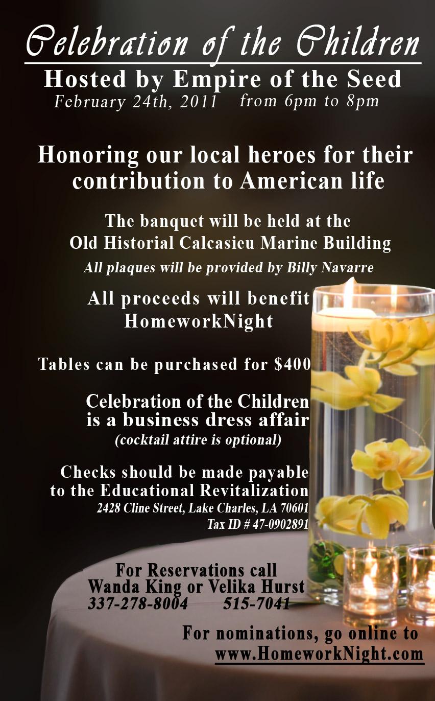 Homework Night: Celebrating the Children - Local Heroes ...