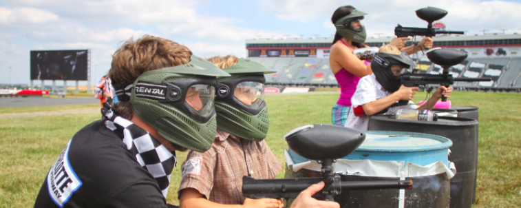Playing Paintball with Kyle Busch at Charlotte Motor Speedway