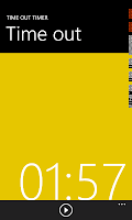 time out timer app, windows phone time out timer app, time out timer app for windows phone