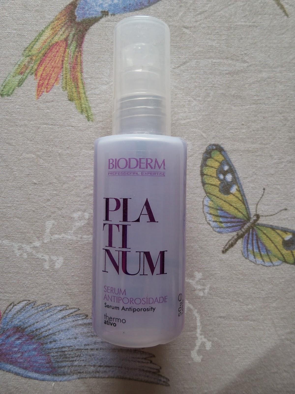 Serum Bioderm Platinum Antiporosidade Thermo Ativo. Para cableos loiros,