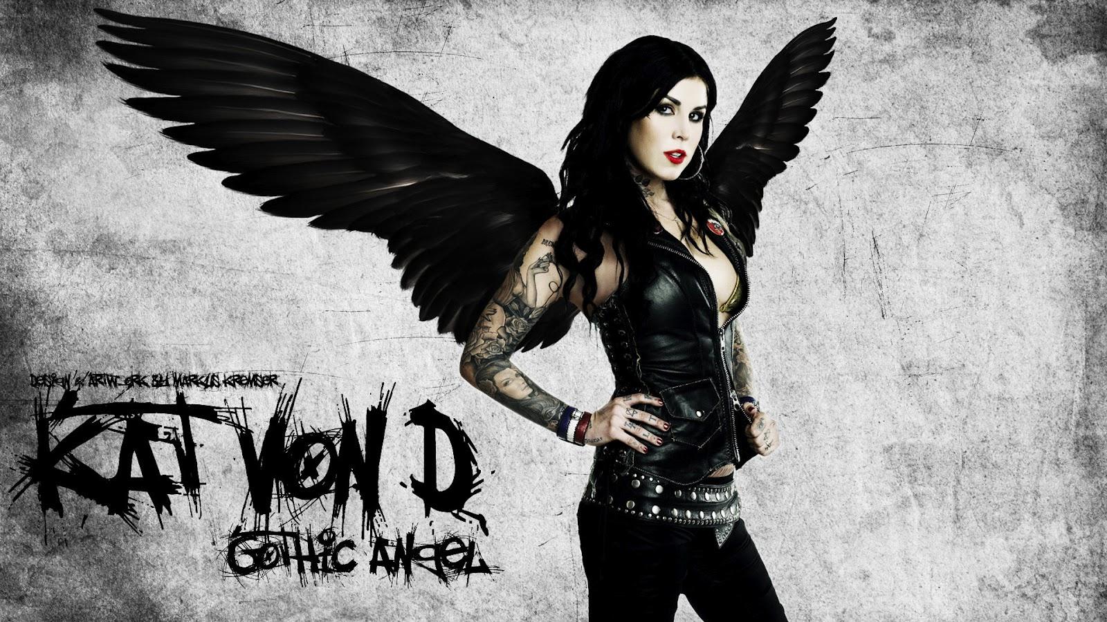 Hd wallpaper kat von d - Dark gothic angel wallpaper ...