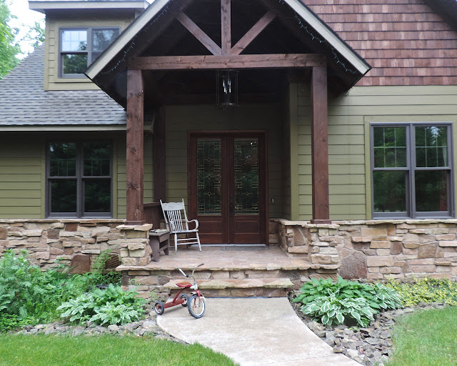 rustic front of house
