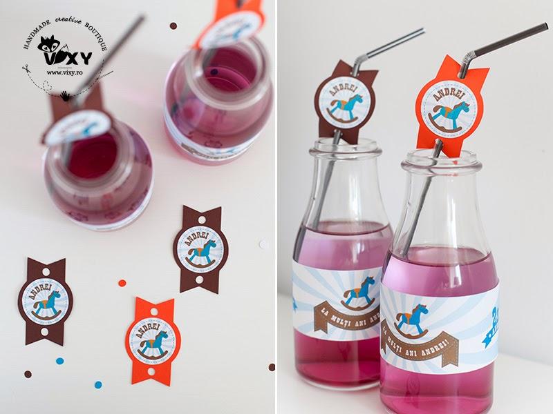 etichete caluti pentru sticle, petrecere personalizata caluti