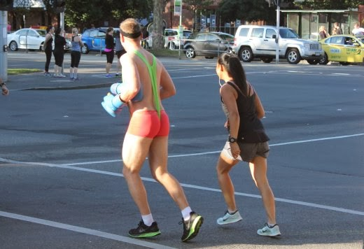 Running in a mankini