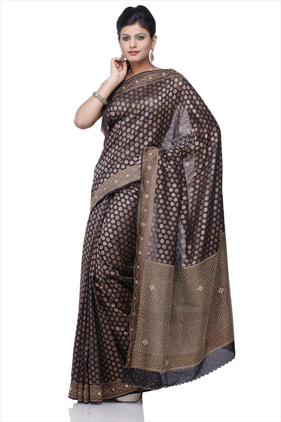 Black Art Georgette Banarasi Saree