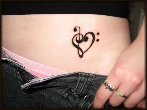 music heart tattoo. you dont even know how