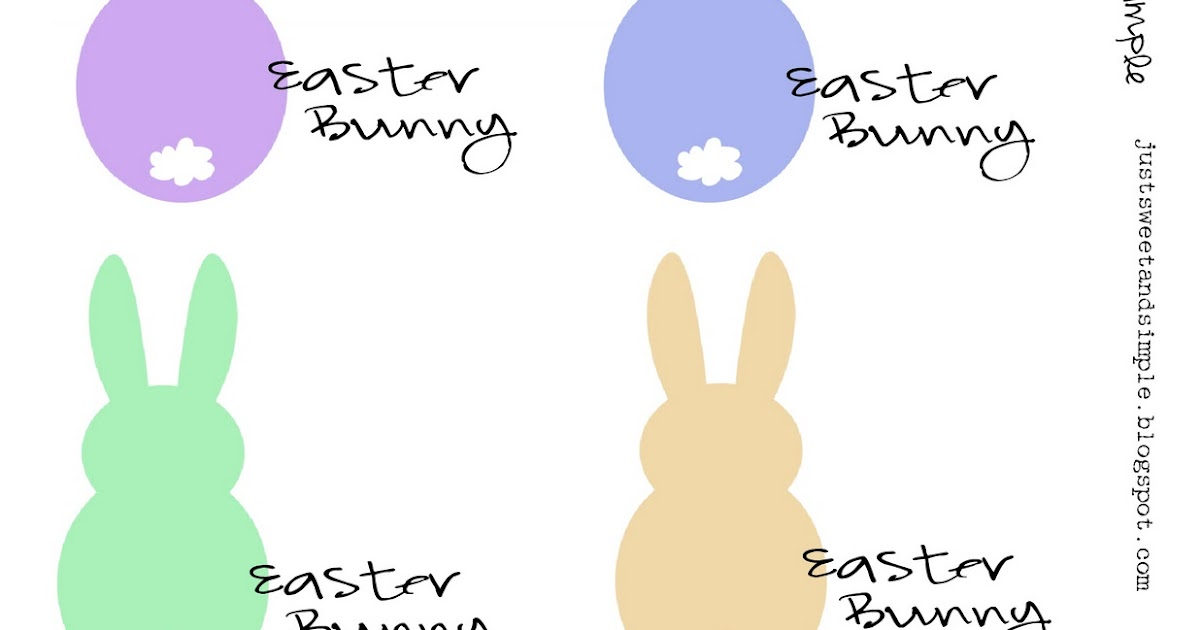 just sweet and simple easter bunny notes
