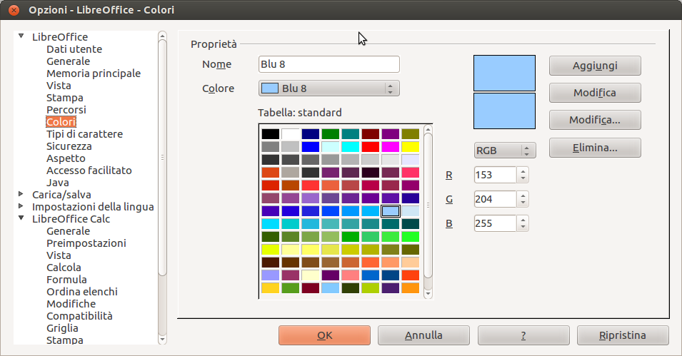 OpenOffice & LibreOffice: Nuovi colori in LibreOffice