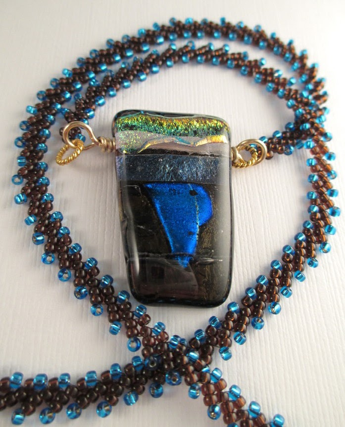 beadsongjewelry two pieces a new stitch and a