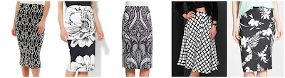 Bisou Bisou Print Midi Skirt $19.99 (regular $38.00)  New York & Co 7th Avenue Suiting Collection Scuba Midi Skirt $21.47 (regular $42.95)  Saks Fifth Avenue Black Swirl Print Scuba Pencil Skirt $35.99 (regular $69.99)  Lulu's Grid and Wear It Black adn Ivory Grid Print Midi Skirt $38.00 (regular $48.00)  Matt M Print Pencil Skirt $47.60 (regular $68.00)