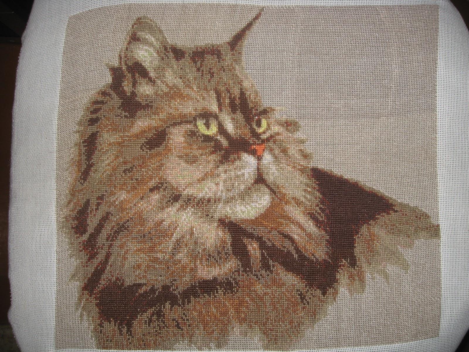 Схема вышивки сибирский кот 28