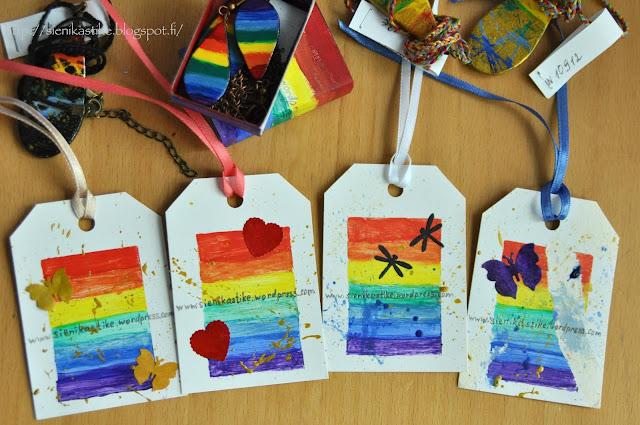 rainbow tags, sateenkaari