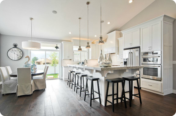 Beautiful white kitchen layout