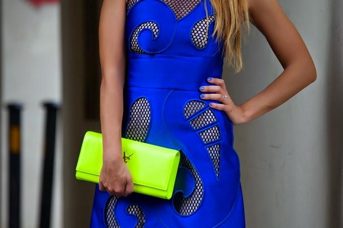 giallo fluo + blu elettrico