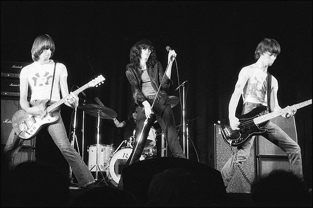 Concert by the touring Ramones, at the New Yorker Theater, Sep. 1976
