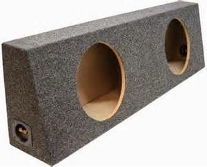 Jenis Box Yang di Perlukan  Ada 3 jenis subwoofer Enclosure: box Sealed, box porting dan box bandpass. Subwoofer box yang paling sering (tapi tidak eksklusif) dibangun dari medium density fiberboard (MDF).