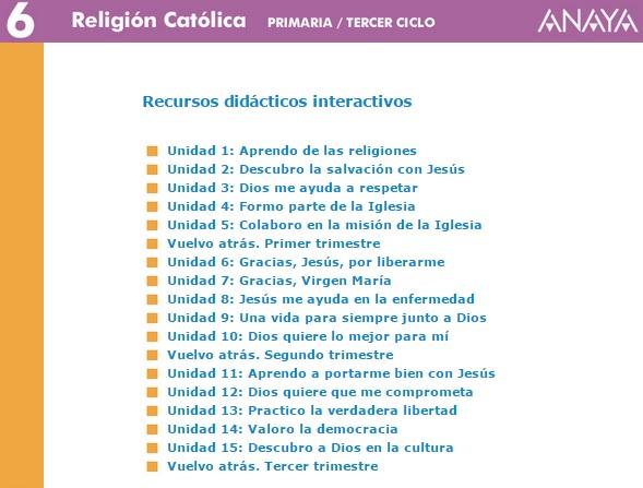 RECURSOS ANAYA 6º