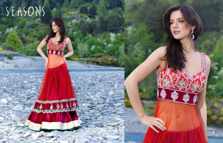 Wedding-Lehenga-with-Long-Choli