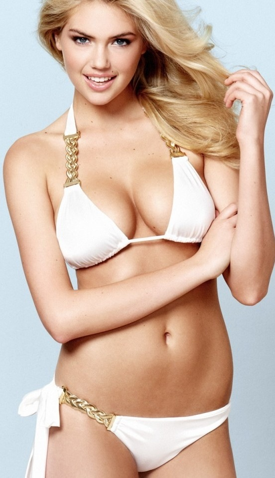 Kate Upton Looking Beautiful In White Color Bikini