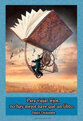 Imagen con frase • Para viajar lejos • Libros