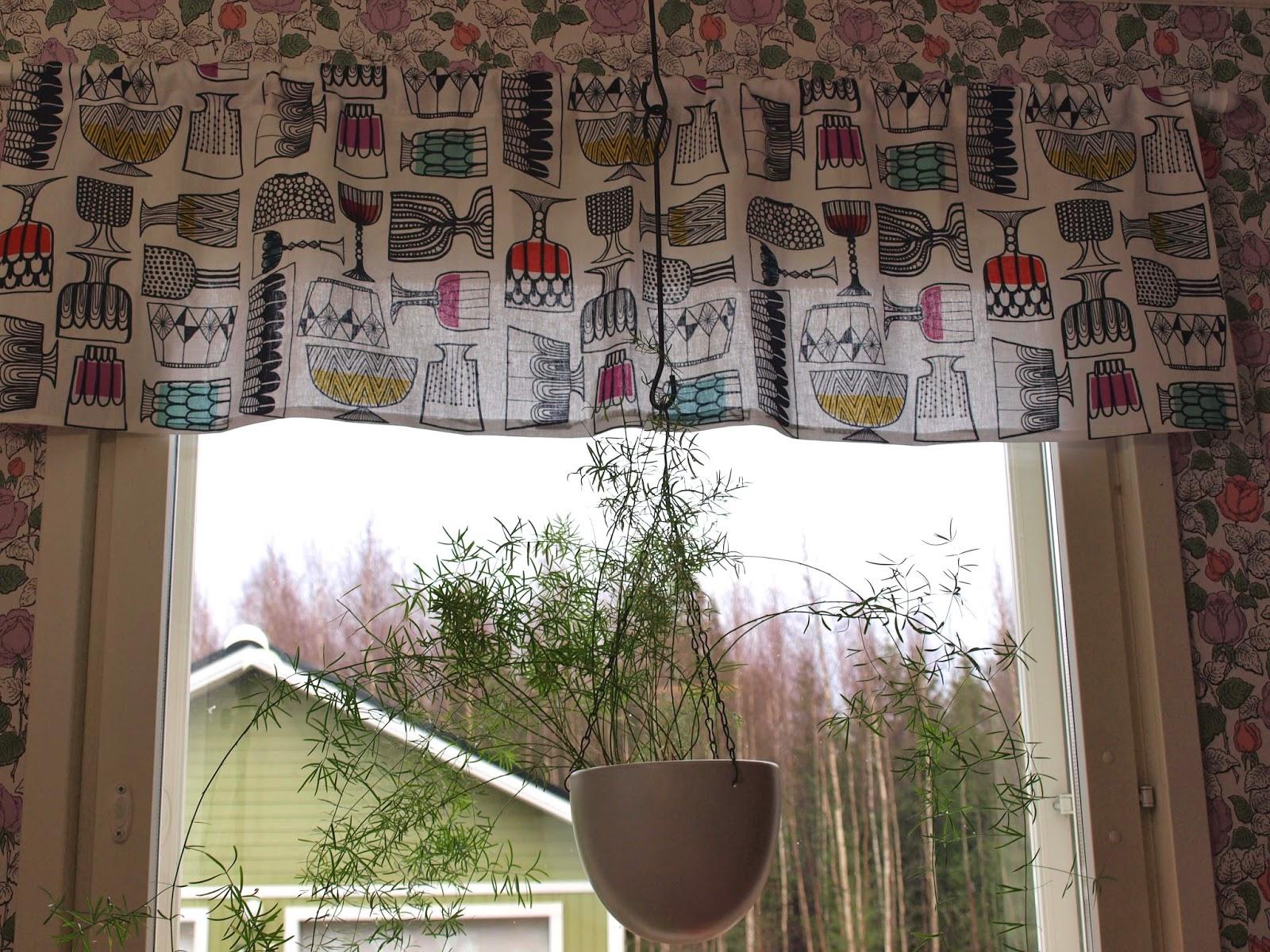 Vintage kitchen 50's mid-century valance Louekari marimekko kippis