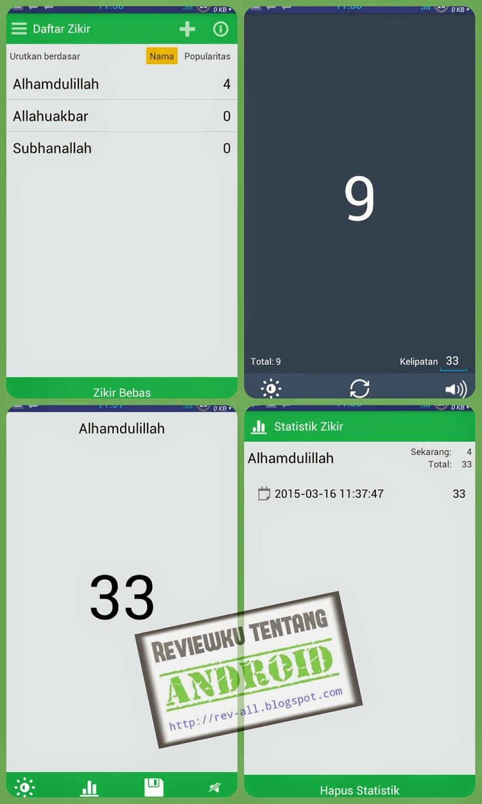 Tampilan aplikasi PENGHITUNG DZIKIR untuk android (rev-all.blogspot.com)
