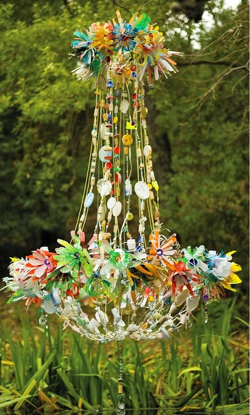 Dishfunctional Designs The Upcycled Chandelier - Upcycled chandelier crystals