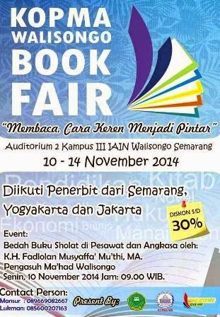 info pameran buku book fair murah uin walisongo semarang